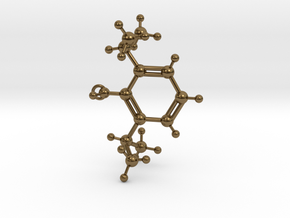 Propofol Molecule in Polished Bronze