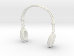 Headphones BOSS Version: BJD Doll SD 1/3 size in White Natural Versatile Plastic