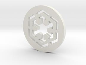 Sith Symbol Blade Plug Insert in White Natural Versatile Plastic