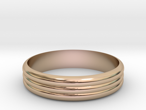 Ribble 3 Ring ø18 mm/0.708661417 inch in 14k Rose Gold Plated Brass