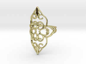 Bloom - size 5 in 18k Gold Plated Brass