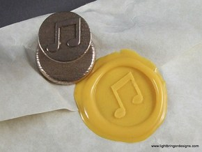 Music Notes Wax Seal in Stainless Steel