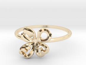 Clover Ring Size US 6 (16.5mm) in 14k Gold Plated