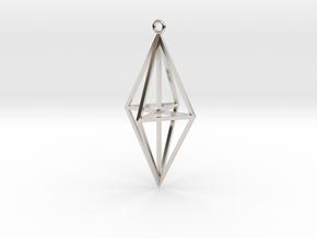 Geo0003 Jewel Vertical in Platinum
