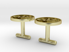Agent 47 cufflinks, larger size in 18k Gold Plated Brass