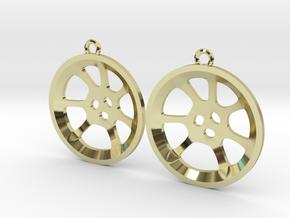 """Double guitar """"Essence"""" steelpan earrings, M in 18k Gold Plated Brass"""