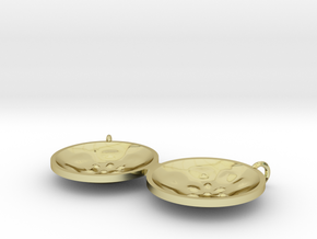 """Double Tenor """"Surface"""" steelpan pendant, M in 18k Gold Plated Brass"""