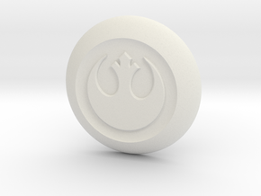 Rebel Switch Cover in White Natural Versatile Plastic