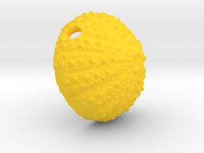 Large Urchin Pendant in Yellow Processed Versatile Plastic