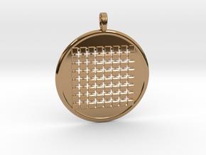 SIXTY-FOUR GRID GROUND in Polished Brass