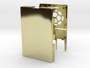 Raspberry Pi 2 / B+ Case in 18k Gold Plated Brass