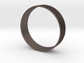 Moorish Bangle in Polished Bronzed Silver Steel
