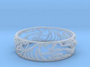 Sardine Wave Bracelet in Smooth Fine Detail Plastic