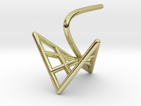 cygnet (small) in 18k Gold Plated Brass
