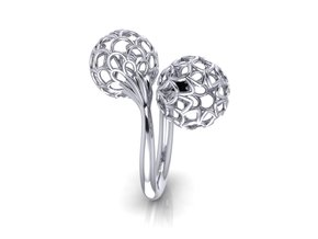 Bloom Ring (Size 8) in Polished Silver
