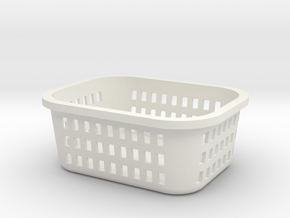 1:6 Laundry Basket in White Natural Versatile Plastic