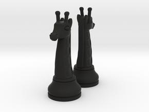 Pair Chess Giraffe Big / Timur Giraffe Zarafah in Black Strong & Flexible