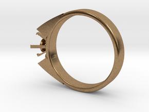 Alessa Design Ring For Diamond Ø17.83mm (Ø6mm New  in Natural Brass
