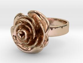 Rose Ring (multiple sizes) in 14k Rose Gold Plated Brass