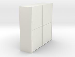 A 010 - 1 Schiebeschrank 1:50 in White Natural Versatile Plastic