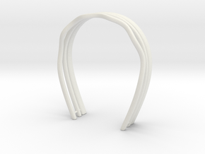 Hair bands set: For BJD doll msd size in White Natural Versatile Plastic
