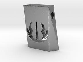 Jedi Pendant in Natural Silver