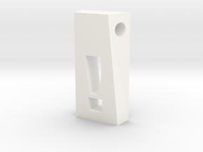 Exclamation Pendant in White Processed Versatile Plastic