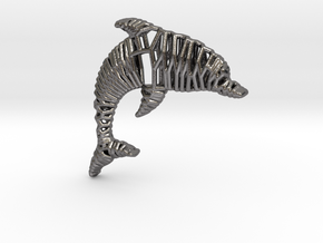 Dolphin Pendant in Polished Nickel Steel