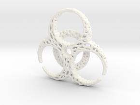BioHazard Pendant in White Processed Versatile Plastic