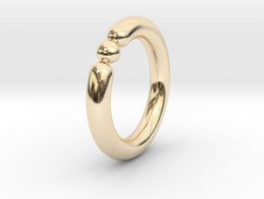 Bali Bania - Ballamond Ring in 14k Gold Plated Brass: 6.75 / 53.375