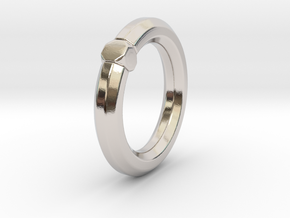 Octavius Ochuko - Ring - US 6.75 - 17.12 mm in Rhodium Plated Brass: 6.75 / 53.375