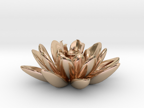 Lotus Necklace For Diamond Ø5mm Medium in 14k Rose Gold