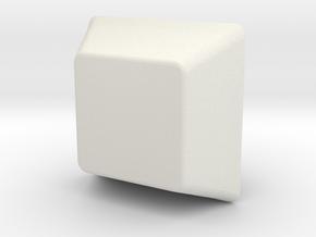 Key Cap in White Natural Versatile Plastic