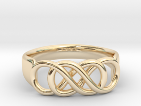 Double Infinity Ring 22.2mm V2 in 14K Yellow Gold
