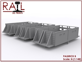 N Scale PALBRICK B x 3 in Smooth Fine Detail Plastic