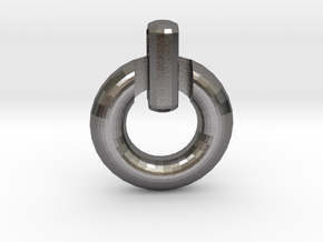 Power Symbol Pendant in Polished Nickel Steel