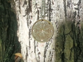 Vegvisir - Pendant in Natural Bronze