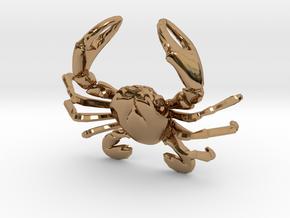 Cancer Zodiac Pendant in Polished Brass