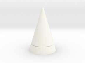 Chrono Shoulder Spike in White Processed Versatile Plastic