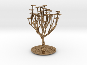 'I Love You' Tree in Natural Brass
