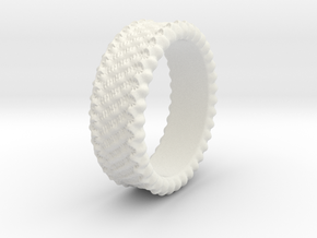 Elisa - Ring - US 6¾ - 17.12mm in White Natural Versatile Plastic