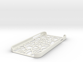 Lattice iphone 6 case in White Natural Versatile Plastic