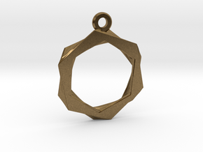 High Class Hexagon Pendant in Natural Bronze