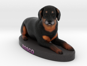 Custom Dog Figurine - Rosco in Full Color Sandstone
