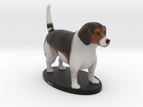 Custom Dog Figurine - Billy in Full Color Sandstone