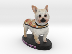 Custom Dog Figurine - Remington in Full Color Sandstone