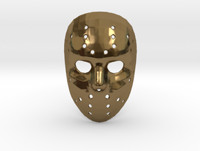 Jason Voorhees Mask (Small) in Polished Bronze