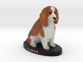 Custom Dog Figurine - Carys in Full Color Sandstone