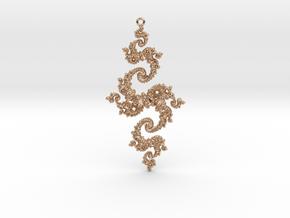 Julia Pendant 1 LP in 14k Rose Gold Plated Brass