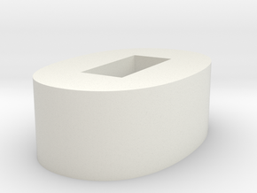 Spacer Inset in White Natural Versatile Plastic